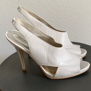 Perfect condition leather Michael Kors heels